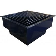 Корпус НЕРА фильтра (305х305х 78) в гигиен. испол. потолочный H 80- 450х450 (4) 160V (ВВЕРХ)