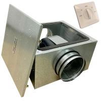 Вентилятор канальный бесшумный VS(AC)-125 с пультом ДУ (улитка ebm-papst)