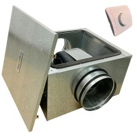Вентилятор канальный бесшумный VS(EC)- 200 с пультом ДУ (улитка ebm-papst)