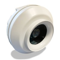 Вентилятор канальный круглый V-200 (пласт. корпус, мотор-колесо ebm-papst)