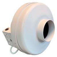 Вентилятор канальный круглый V- 100 (пласт. корпус, мотор-колесо ebm-papst)