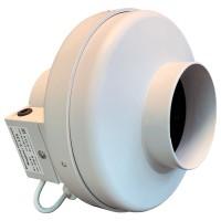 Вентилятор канальный круглый V- 125 (пласт. корпус, мотор-колесо ebm-papst)