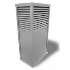 Шахта вентиляционная  300х 300 Н=1320, h1=1000, 1 000 м3/ч, оц.сталь, RAL 7035