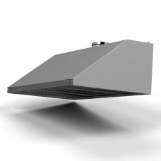 Зонт пристенный ЗВП-С 1200х 400х400 d160 оцинк.