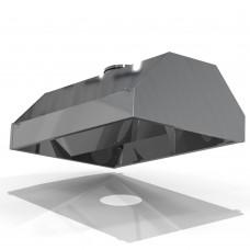 Зонт островной ЗВО-0  800х 800х400 d250 оцинк.